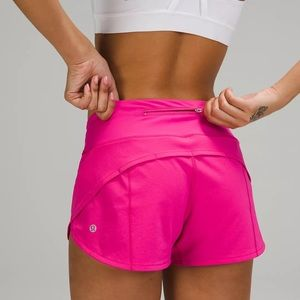"""NWT Lululemon Speed Up Low Rise 2.5"""" Sonic Pink"""